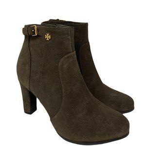 Tory Burch Milan Suede Heeled Bootie Size 6.5